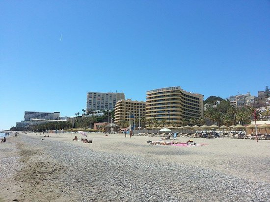 Melia Costa del Sol : The hotel, as seen from the beach