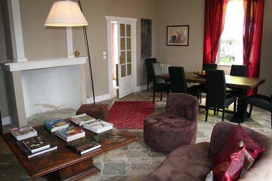 Maison Lartigau : salon à l'usage de nos hôtes