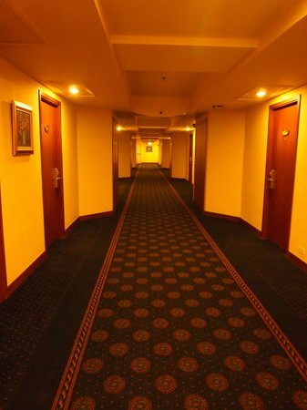 The Twin Towers Hotel: sad dark,smalls bad corridor