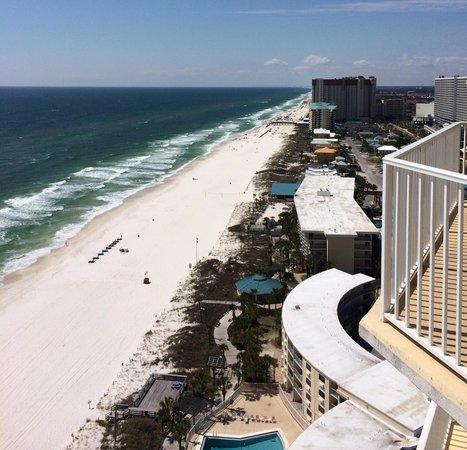 Boardwalk Beach Resort Condominiums: View from corner of balcony