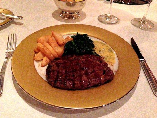 The London Grill: Rib Eye steak