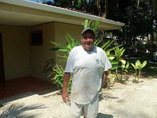 Beach Break Resort: Oscar the friendly groundskeeper.