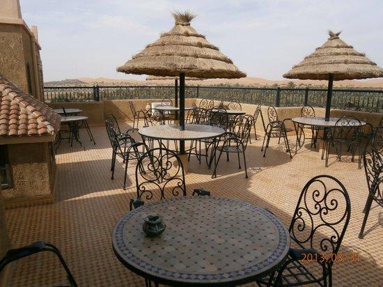 Riad Nezha: la terrasse petit dejeuner
