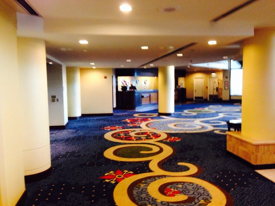 Hilton East Brunswick Hotel & Executive Meeting Center : Lobby and front desk