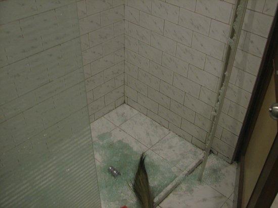Piccadilly Resort: Broken sliding part