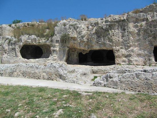 Ortigia: Latomías en él Teatro Griego