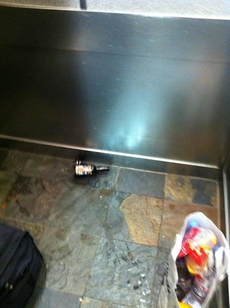 The Lodge at Tiburon: Broken Beer Bottle in the elevator