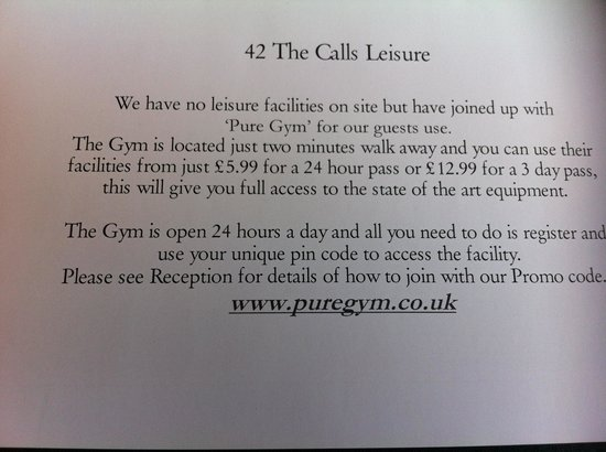 42 The Calls : Gym Prices 12 April 2014