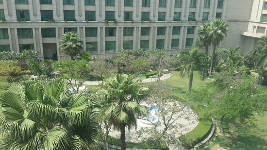 The Grand New Delhi: View from my room on the 4th floor. Nice.