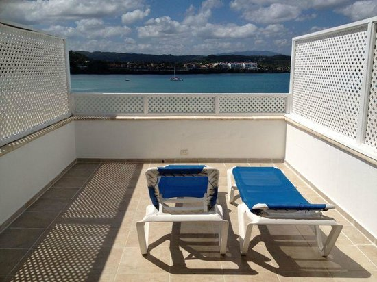 Victorian House Hotel Puerto Plata : The view from our private balcony