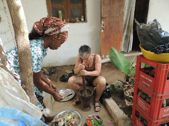 The Plantation Gambia: preparing lunch