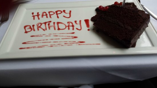 Tiger Green Brasserie: The beautiful birthday cake they prepaired for my mother