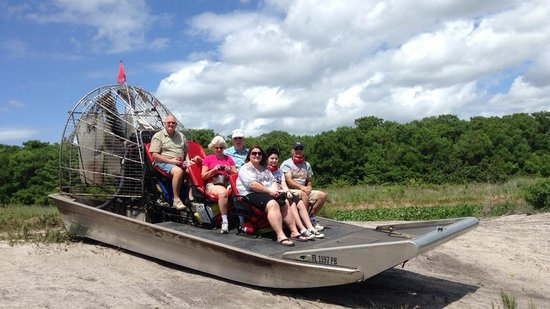 Airboat Wildlife Adventures: A boat without a captain! He's behind the camera!