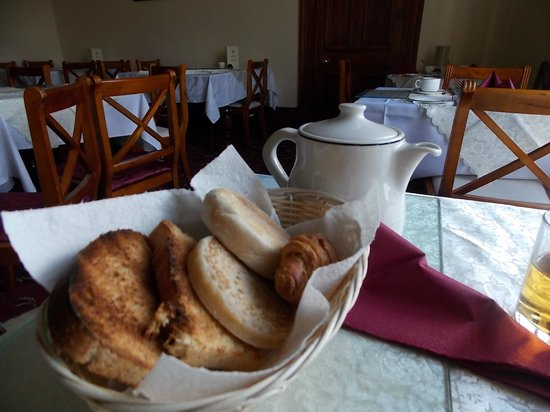 The Firs: breakfast breads, home made bread toasted, muffin and crumpet
