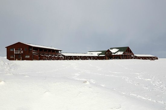 Hotel Ranga after snowfall