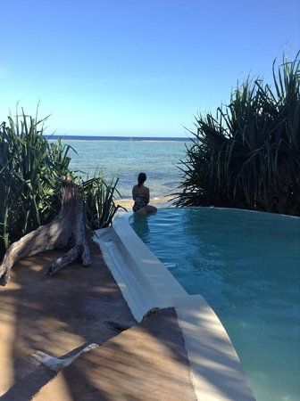 Matemwe Lodge, Asilia Africa: upper pool overlooking Indian Ocean
