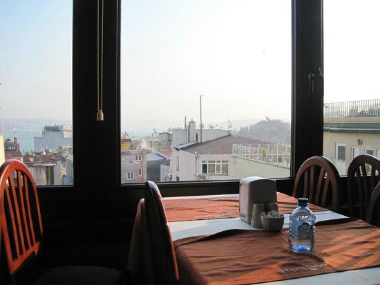 Erbil Hotel: Вид из окна ресторана.