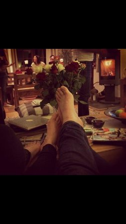 The Guest House: Post skiing feet up