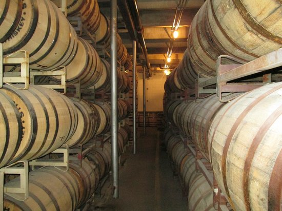 Stranahan's Colorado Whiskey Tour: Barrel room at Stranahan's Distillery