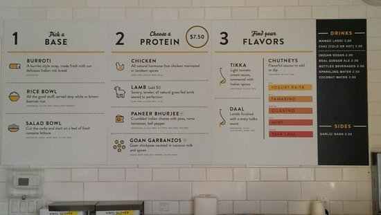 New menu board - Picture of Tava Kitchen, Palo Alto - TripAdvisor