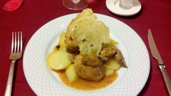 Hospederia Mirador de Llerena: Codornices ricas (el único plato que se salvó)