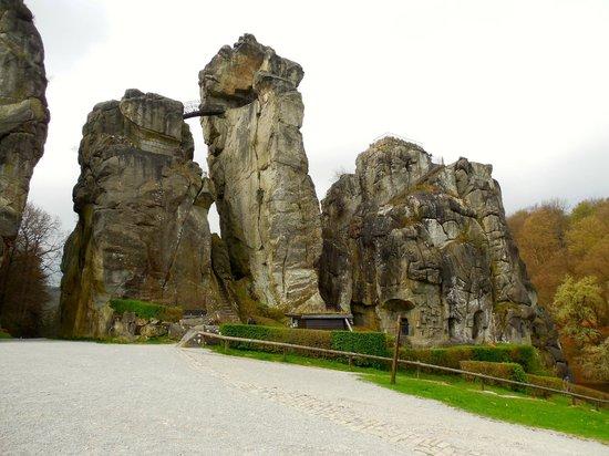 Externsteine: Leaning tower of rock