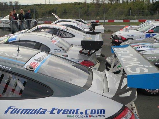 Dorint Am Nuerburgring Hocheifel: Parc ferme after the 6 hour endurance race, a short walk from hotel