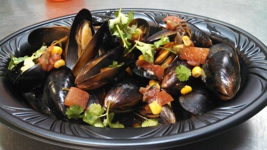 Beyond the Bull: Lager steamed mussels