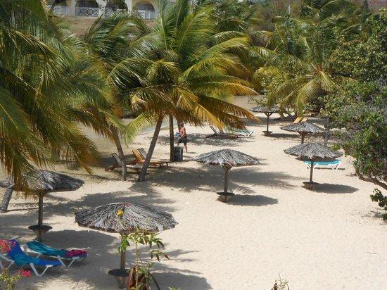 Grenadian by Rex Resorts: view from pool area of beach below