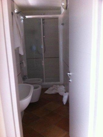 Hotel Miramare: bagno piccolo ma confortevole