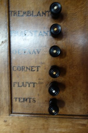 Museo Amstelkring (Iglesia de Nuestro Señor en el Ático): Amstelkring Organ - stops right side