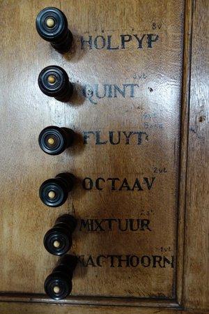 Museo Amstelkring (Iglesia de Nuestro Señor en el Ático): Amstelkring Organ - Stops left side