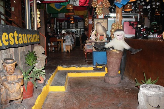 Restaurante Nuestra Tierra: the entrance way