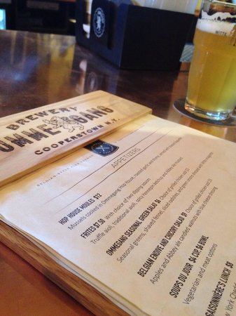 Brewery Ommegang : Menu and Witte