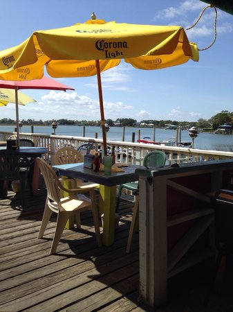 A-J's Dockside Restaurant: View from the deck