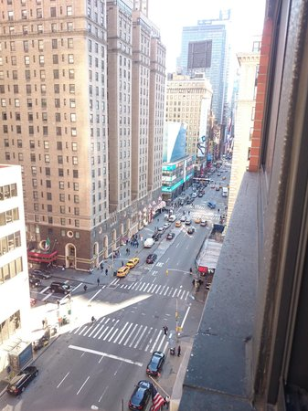 The Manhattan at Times Square Hotel: View from hotel room towards Time Square