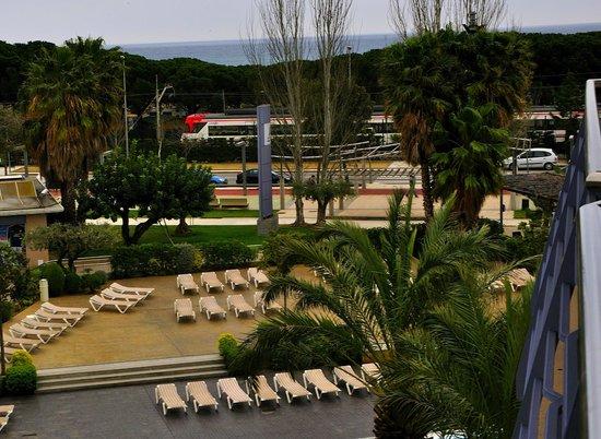 Aqua Hotel Onabrava & Spa : panorámica desde la habitacion del hotel