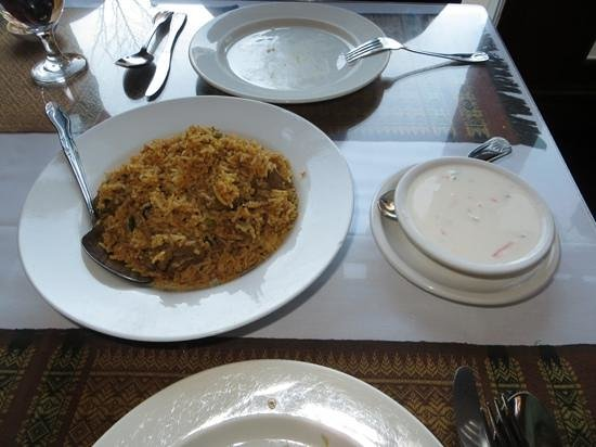 Himalayan Kitchen: Lamb biryani and raita