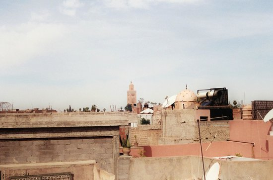Hostel Riad Marrakech Rouge : rooftop view
