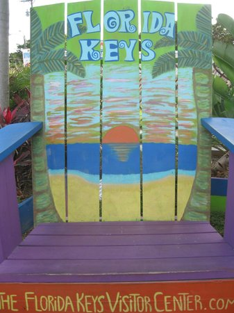 Florida Keys Visitor Center : The Florida Key Visitor Center- Large painted chair