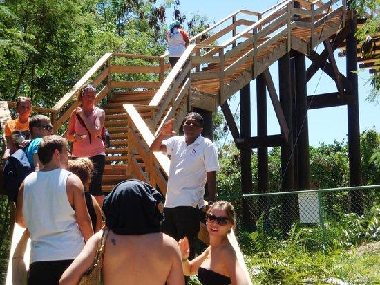 Barcelo Bavaro Beach - Adults Only: Alfredo leads the tour group to Hoyo Azul