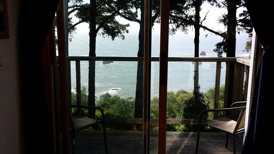 The Lost Whale Inn: balcony view, Orca Whale room.