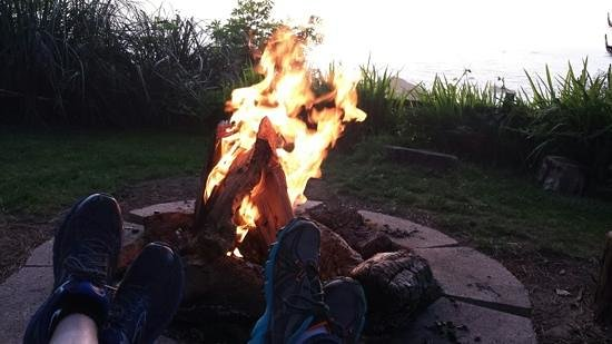 The Lost Whale Inn: relaxing at the fire pit.