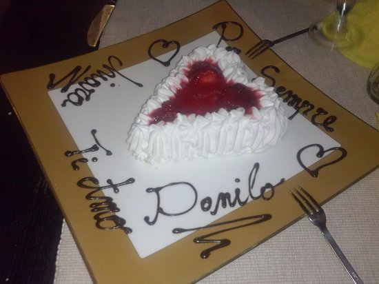 Tanti Baci Restaurant : dessert romantico