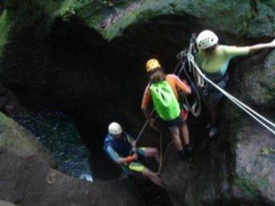 Canyon Speleo Caribbean: Titou inférieur, le départ