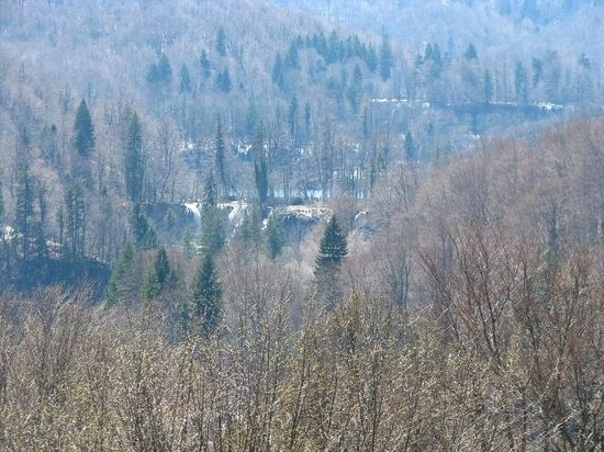 Upper lake/falls view - Hotel Jezero