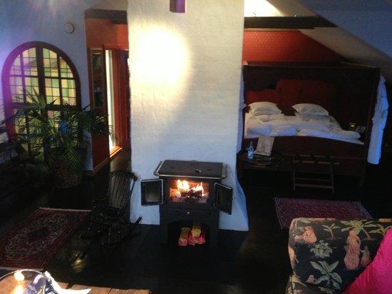 Bomans Hotel in Trosa: En brasa är aldrig fel...