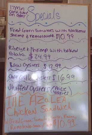 Chesterfield's Bar and Grill: The specials board woo hoo!!