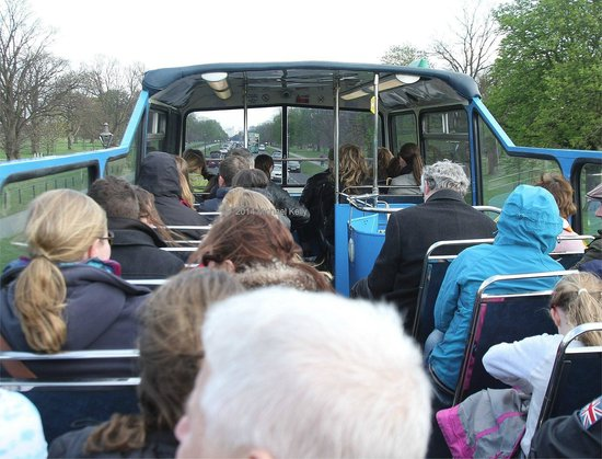 "Dublin Bus ""Hop on Hop off"" tour in the Phoenix Park, Dublin"