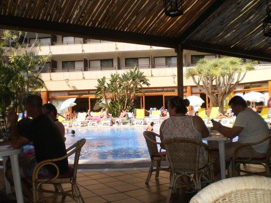 Hotel Puerto de la Cruz: PISCINA Y ALREDEDORES